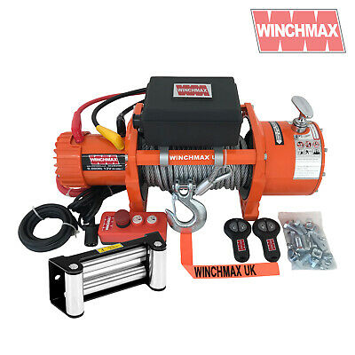 ELECTRIC WINCH 12V RECOVERY 4x4 3.5 Ton EN14492 WINCHMAX ORIGINAL ORANGE WINCH