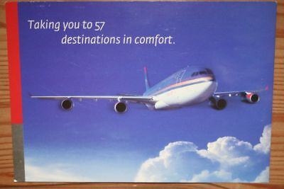 AK Airliner Postcard ROYAL JORDANIAN A340 airline issue