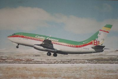 AK Airliner Postcard CASINO EXPRESS B.737 airline issue