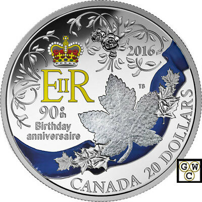 2016A Celebration of Her Majesty's 90th Birthday'Prf $20 1oz .9999Silver(17647)
