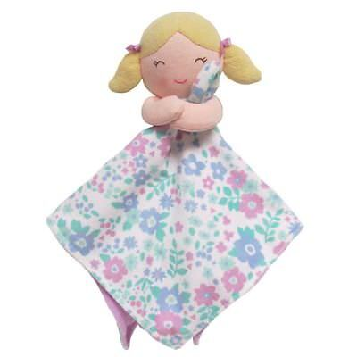 New Carter's Snuggle Buddy Pretty Girl Doll Security Blanket Soft Cute NWT