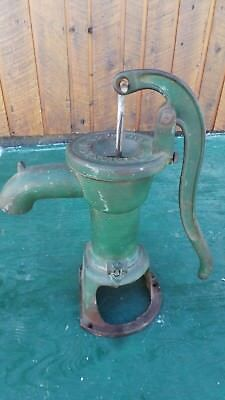 Vintage Cast Iron Hand WATER PUMP Has Green Finish Signed SMART BROCKVILLE