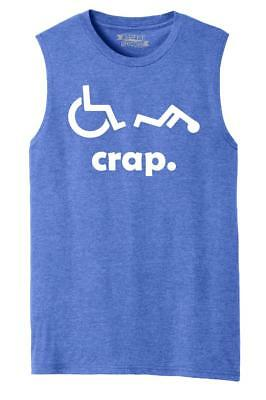 22ec0620a6 Mens Crap Handicap Funny Wheelchair Disabled Rude Offensive Adult Humor  Muscle