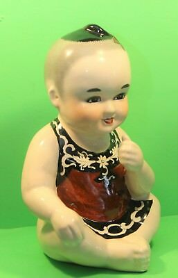Vintage Asian Ceramic Baby Figurine Very Cute Must See Nice Size for Display!