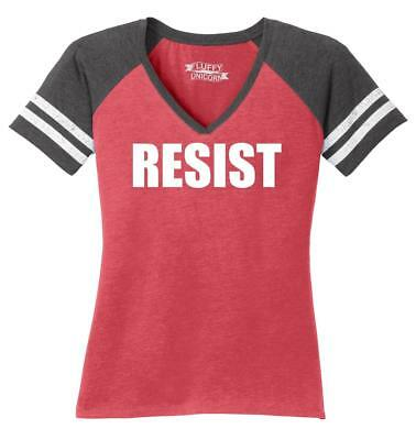 Ladies Resist Tee Anti Donald Trump Political Protest Trump Rally Tee Game