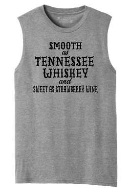 Mens Smooth As Tennessee Whiskey Muscle Tank Alcohol Country Redneck Party