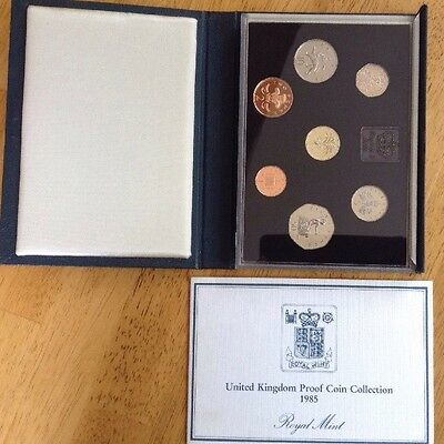 United Kingdom PROOF Coin Collection ROYAL MINT Dated 1985 In Case