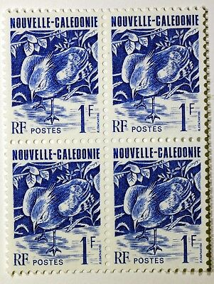 Block 4 Stamps NEW Caledonia The Cagou BIRD new MNH ACA