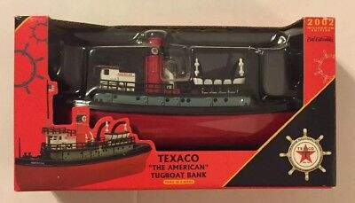 "Ertl Collectibles Texaco ""The American"" Tugboat Bank 2002 3rd in Series NIP"