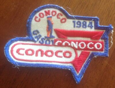 Conoco Gas Station Oil Petroleum Company Service sew on Patch Vintage Employee