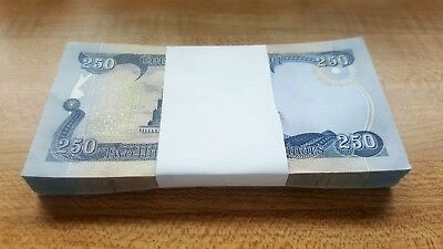 NEW IRAQ IRAQI 25,000 DINAR 250 (100 pc bundle) UNCIRCULATED NOTES