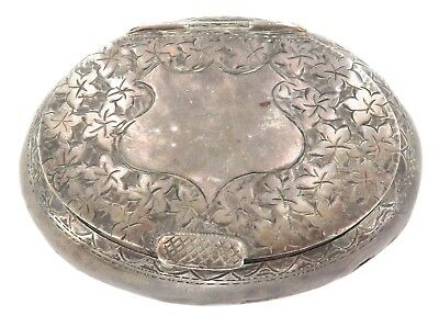 1912 English Hallmarked Sterling Silver Snuff Box. Priced To Sell !!