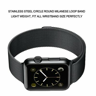 Space Black Loop Magnetic Milanese Stainless Band 4 Apple Watch 42mm Series 123