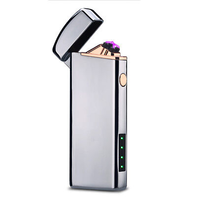 New Usb Rechargeable Electric Lighter Double Arc Pulse Flameless Plasma Torch 19 99 Picclick