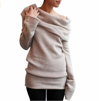 746|Pull femme-Manches Longues-Velours-Haut-Hiver-Chaud-Tricot Pull-over-Tunique