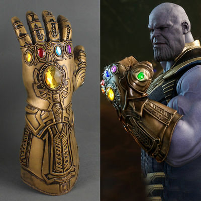 Avengers Infinity War Thanos Infinity Gauntlet Cosplay Gloves Halloween Props