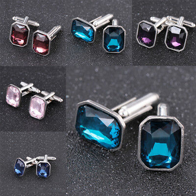 2018 NEW Crystal Men's Cufflinks Cuff Links High-end Wedding Party cufflinks GK1