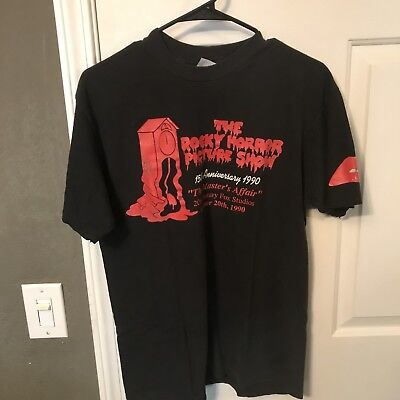 RARE Vintage 1990 ROCKY HORROR PICTURE SHOW 20th Century Party T SHIRT 90s