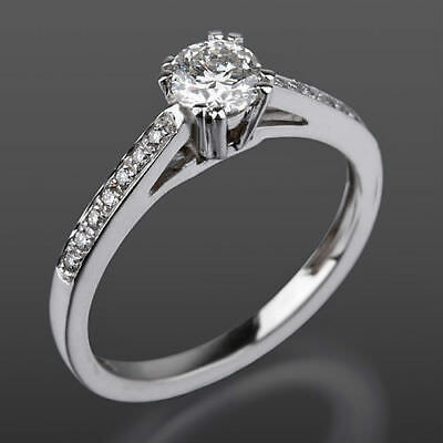 Jewelry & Watches Buy Cheap Vvs1 Anniversary Solitaire Accented Diamond Ring 18 Karat White Gold 1.41 Ct