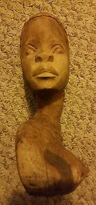 SALE! Amazingly Awesome! Vintage African Solid Wood Head Statue Fertility Wooden