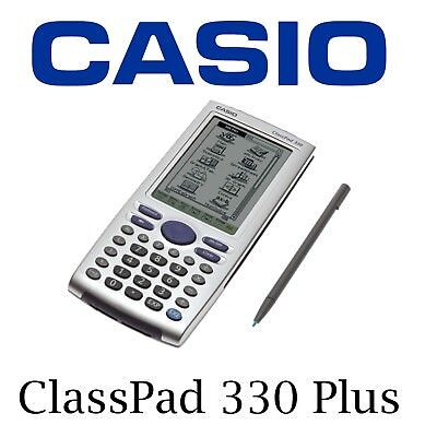 New School Casio ClassPad 330 Plus - Graphics Calculator + stylus + Manuals + CD