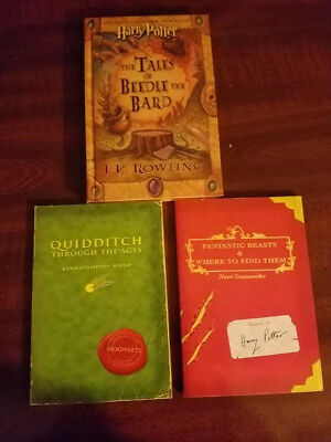 Fantastic Beasts, Quidditch Through FIRST EDITION RARE! Tales of Beetle LOT OF 3
