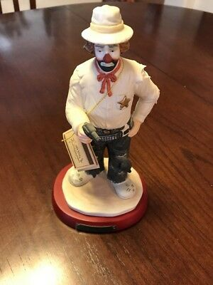 The Emmett Kelly Junior Signature Collection The Vigilante *Rare* Signed
