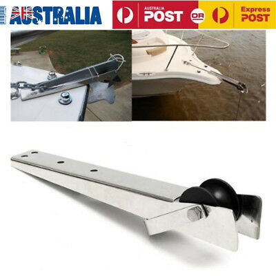 316 Stainless Steel Boat Bow Anchor Rubber Roller 387mm For Fixed Marine Yacht