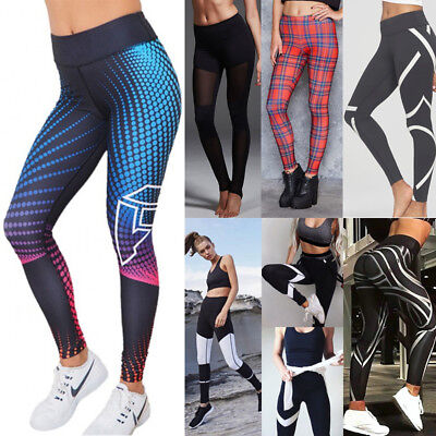 Women Yoga Fitness Leggings Running Gym Stretch Sports Exercise Pants Trousers