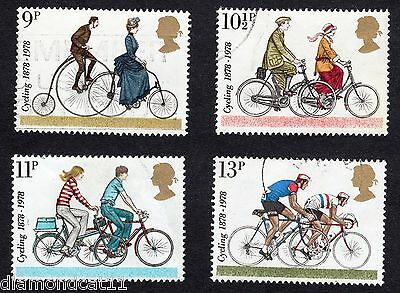 1978 Centenaries of Cyclists Club SG 1067 to 1070 set FINE Used