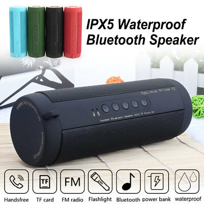 Portable Waterproof Bluetooth Speaker Wireless Outdoor Rechargeable Stereo SD/FM