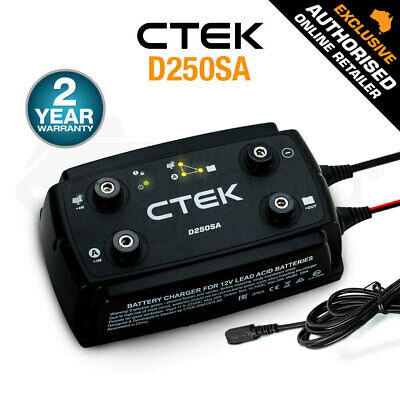 CTEK  D250SA Dual DC Solar Smart Battery Charger 12V 20A 4WD 4x4 AGM Car Caravan
