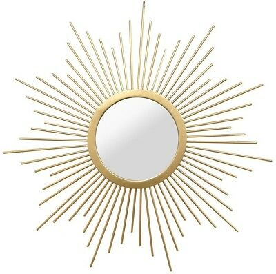 SUNBURST MIRROR SOLID Metal Round Wall Mount decor Hand-painted ...