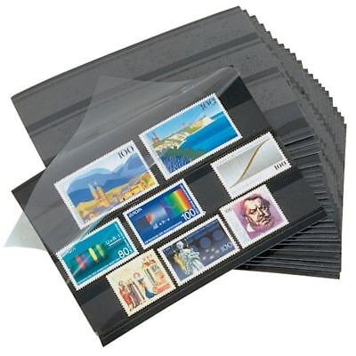 100 Lighthouse 148 x 105 mm Stamp approval cards 3 strip clear film cover