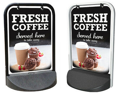 Coffee Shop Sign, Cake Shop, PAVEMENT SIGN, ADVERTISING Board, EcoSwinger2