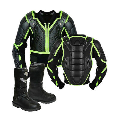 Kids/Child Motorcycle Protector Guard Jacket Motorbike Spine Body Armour boots