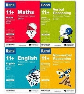 Bond 11+ Plus Assessment Papers 10-11  years 4 Books EnglishMathsVerbalReasoning