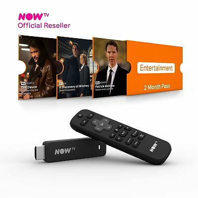 NOW TV Smart Stick with HD & Voice Search with 2 Month Entertainment NEW