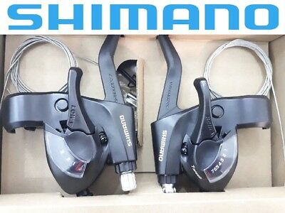 Shimano STEF41 (3x7) 21 Speed Gear Shifter Bike STI Set Black with Inner Cables