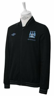 Umbro Man City Manchester City Black Bomber Jacket 2012 2013 Mens RRP £70 AT £35