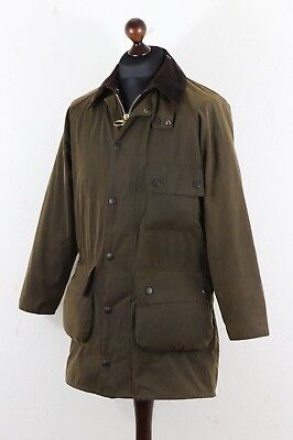 BARBOUR A 840 SOLWAY Mens Waxed Jacket Utility Multipocket Olive C 36 / 91 CM