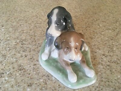 """Nao By Lladro Porcelain Spaniel Dogs/puppies Figurine, 4.5"""""""