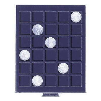 Lighthouse Smart Coin Boxes Storage blue velvet inlay trays different sizes