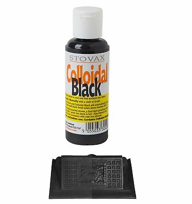 Stovax Colloidal Graphite Black Grate Coting Polish Paint 85ml All Stoves