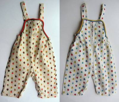 Vintage girls dungarees NWT's floral age 9 & 18 months 70's boho