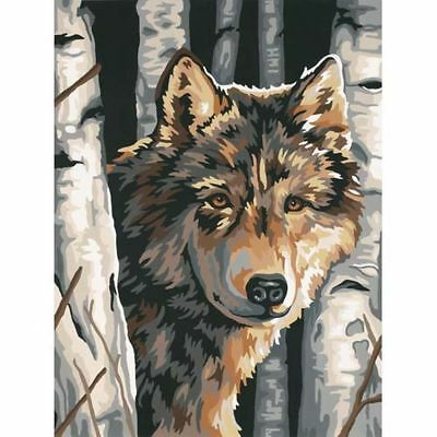 Paint Works Wolf Among Birches Painting By Numbers Kit