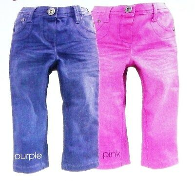 2 Bnwt Next Girls Skinny Jeans Pink Purple 2-3 Yrs New Party Jeggings Christmas