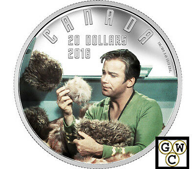 2016 Star Trek(TM)The Trouble with Tribbles Color $20 Prf Fine Silver(NT)(17868)