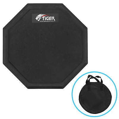 "Tiger 8"" Drum Practice Pad with Carry Bag"