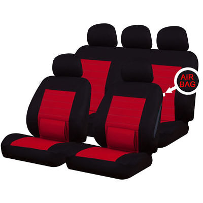 VOLVO S80 98-05 Camden Red Back Support Full Set Car Seat Cover